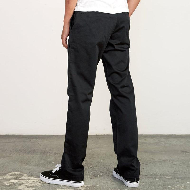 The Weekend Stretch Straight Pant - Black