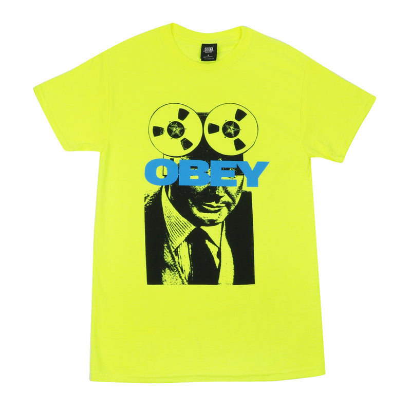 Obey Phone Tap T-Shirt - Safety Green - Town City