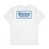 Brixton Palmer Premium Tee - White/Royal - Town City