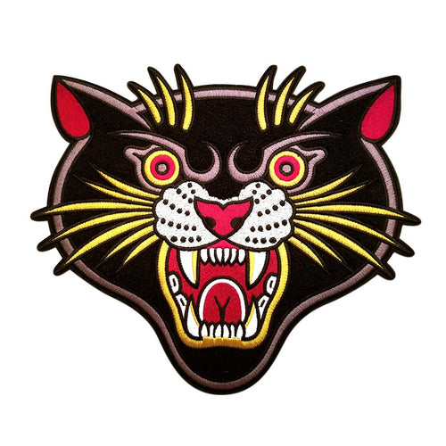 Stuntin Classic Chenille Panther Back Patch - Town City