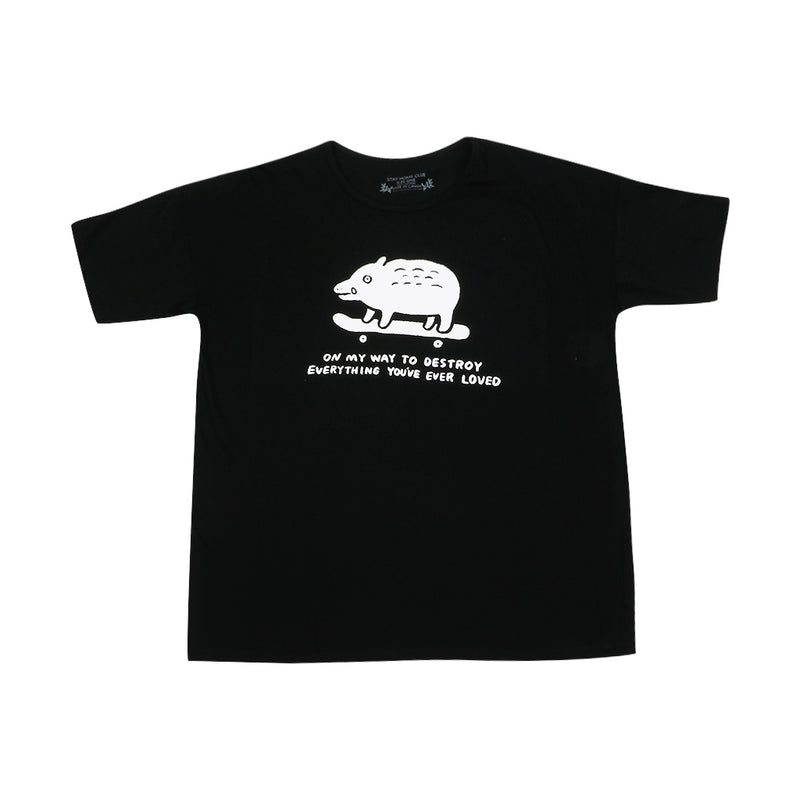 Stay Home Club Destroy Boar Loose Tee - Black - Town City