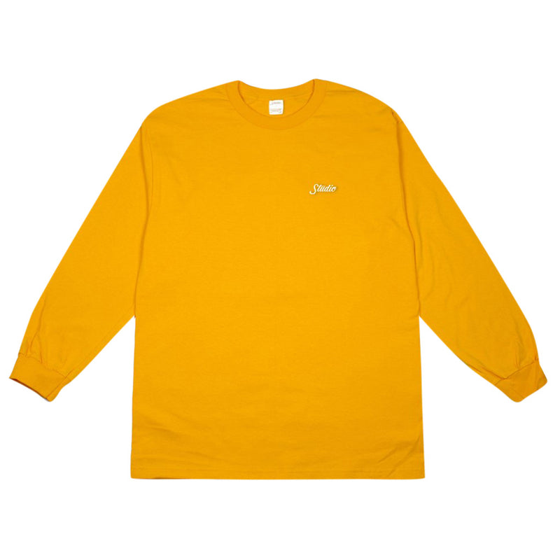 Small Script Long Sleeve - Gold