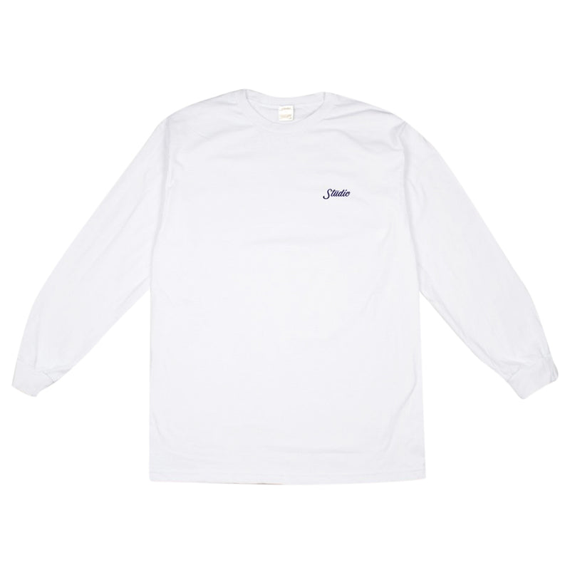 Small Script Long Sleeve - White