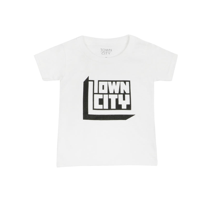 Town City Toddler 3D Block T-Shirt - White - Town City