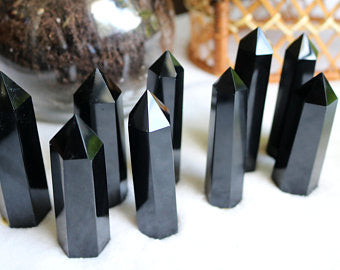 OBSIDIAN CRYSTAL POINT