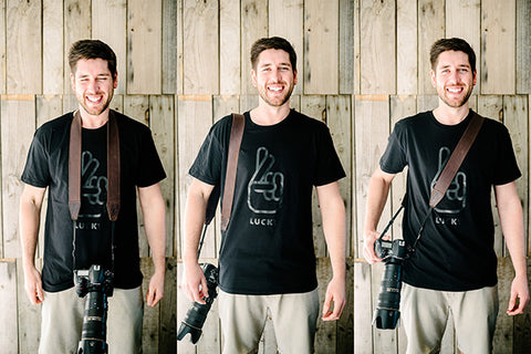Camera Straps on Different Sized Photographers