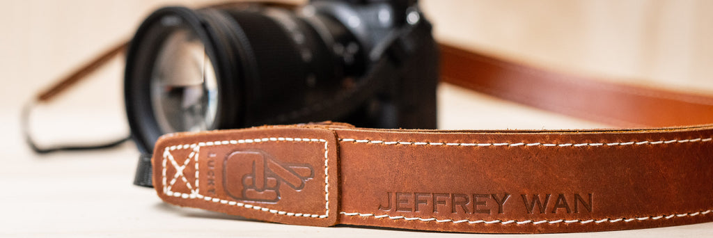 Leather Camera Strap with Personalisation