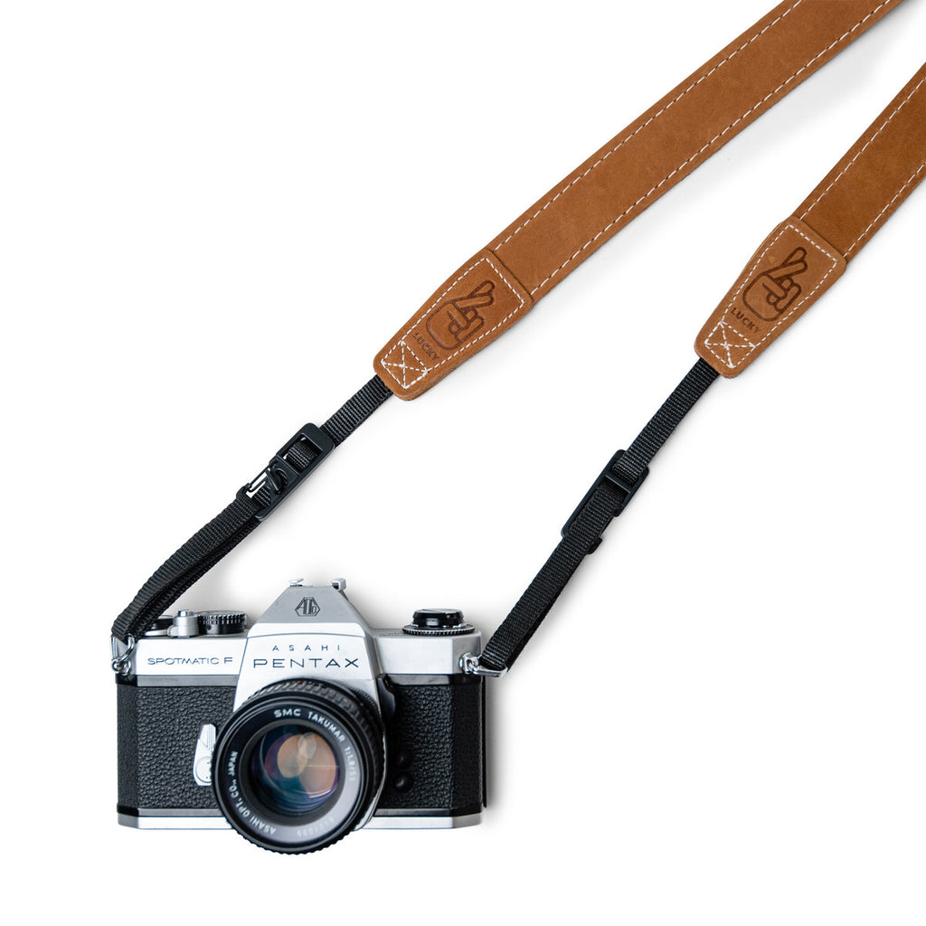 Film Camera with Leather Camera strap