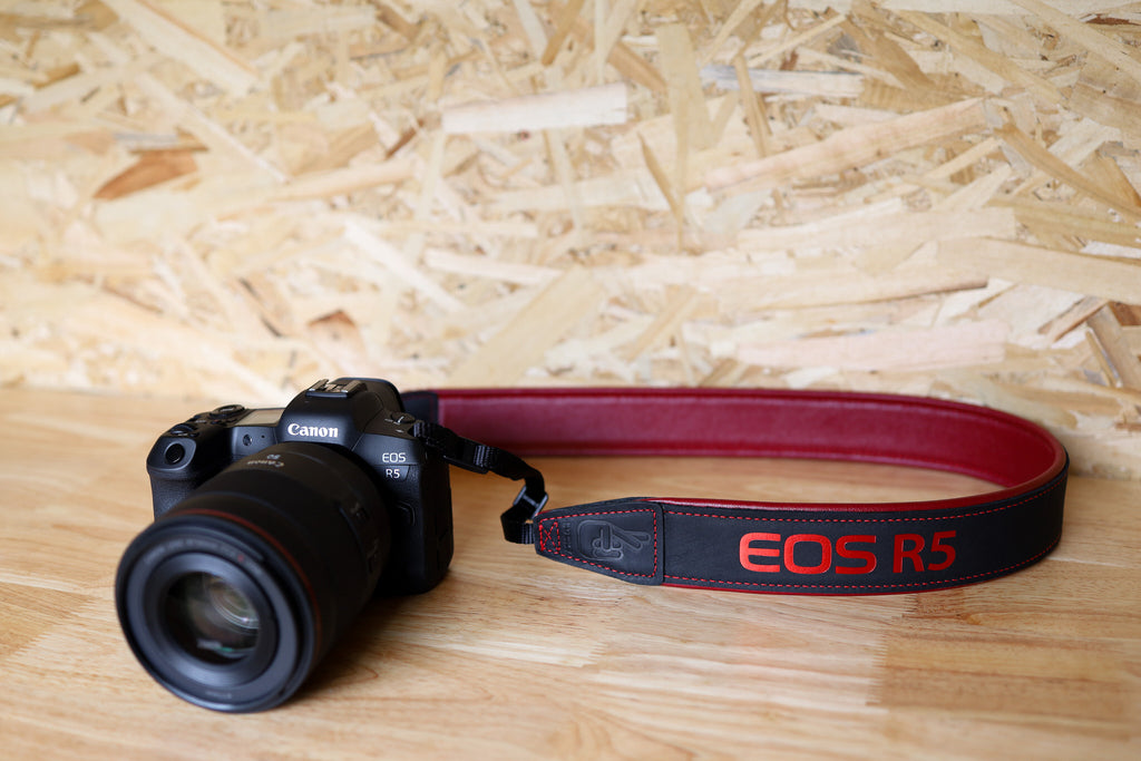 Canon EOS R5 Leather Camera Straps