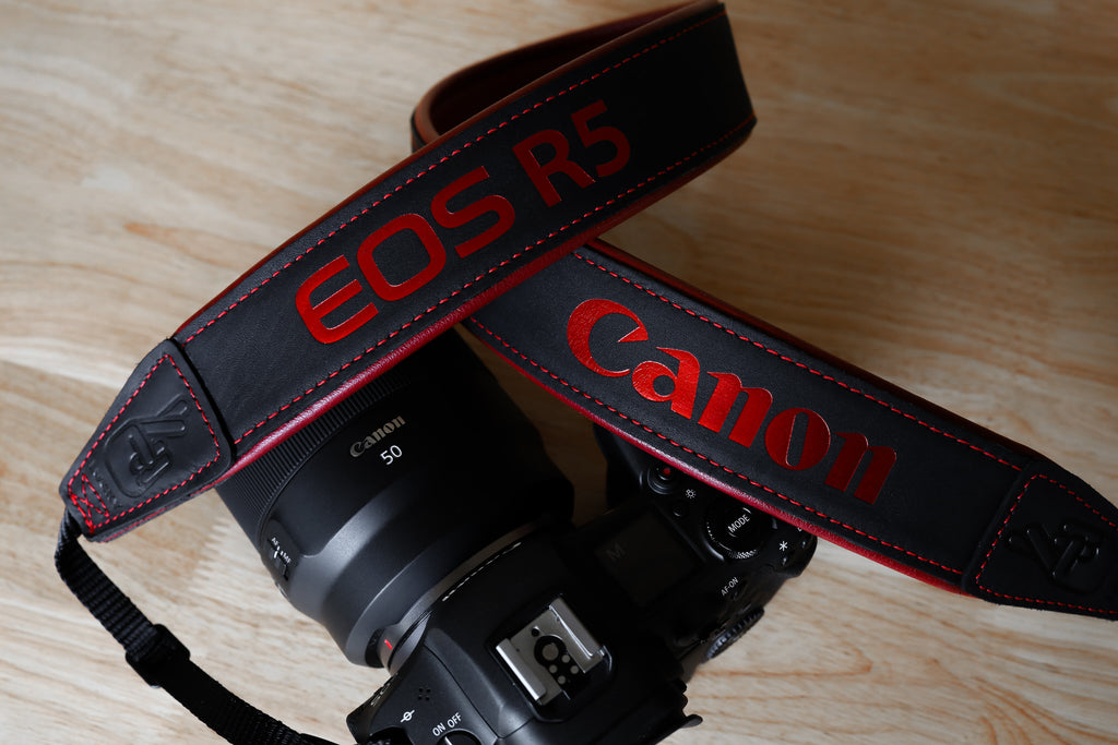 Canon EOS R5 Leather Camera Strap