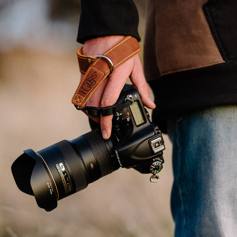 Lucky Strap leather camera straps are designed for comfort