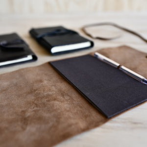 Leather Wrapped Field Notes Journal