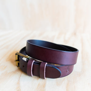 Leather Belt - Cognac