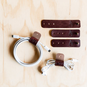 Cable Ties - Cognac Leather