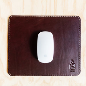 Mouse Pad - Cognac Leather