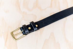 The best gift for photographers - Leather Belt - Black with Stitching - Lucky Camera Straps - genuine leather camera strap personalised handmade in Australia  - 3