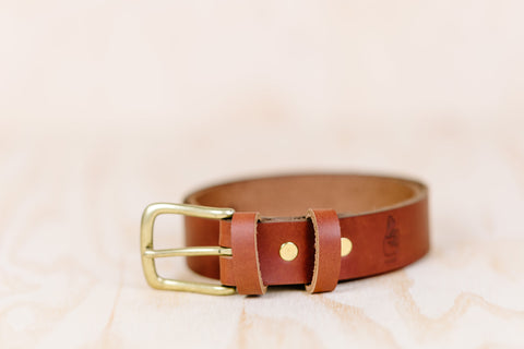 The best gift for photographers - Leather Belt - Natural Brown - Lucky Camera Straps - genuine leather camera strap personalised handmade in Australia  - 2