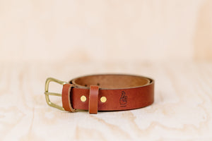 The best gift for photographers - Leather Belt - Natural Brown - Lucky Camera Straps - genuine leather camera strap personalised handmade in Australia  - 3