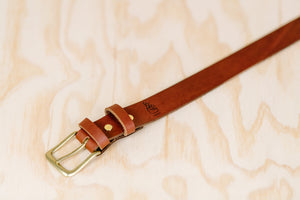 The best gift for photographers - Leather Belt - Natural Brown - Lucky Camera Straps - genuine leather camera strap personalised handmade in Australia  - 4