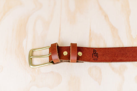 The best gift for photographers - Leather Belt - Natural Brown - Lucky Camera Straps - genuine leather camera strap personalised handmade in Australia  - 5