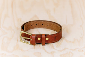 The best gift for photographers - Leather Belt - Natural Brown with Brown Stitch - Lucky Camera Straps - genuine leather camera strap personalised handmade in Australia  - 2