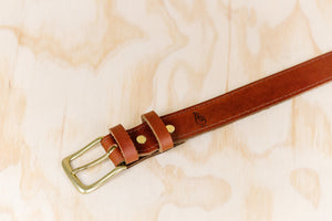 The best gift for photographers - Leather Belt - Natural Brown with Brown Stitch - Lucky Camera Straps - genuine leather camera strap personalised handmade in Australia  - 3