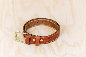 The best gift for photographers - Leather Belt - Natural Brown with White Stitch - Lucky Camera Straps - genuine leather camera strap personalised handmade in Australia  - 2