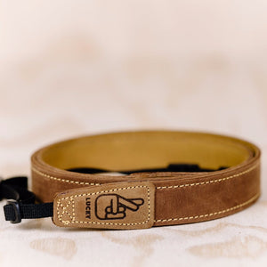 The best gift for photographers - Slim 30 - Classic - Brown/Tan - Lucky Camera Straps - genuine leather camera strap personalised handmade in Australia  - 1