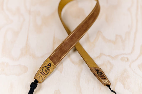 The best gift for photographers - Slim 30 - Classic - Brown/Tan Reverse - Lucky Camera Straps - genuine leather camera strap personalised handmade in Australia  - 2