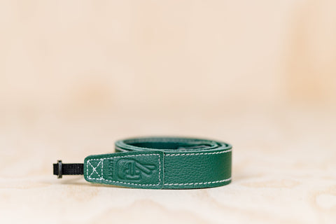 The best gift for photographers - Slim 30 - Classic - Forrest Green - Lucky Camera Straps - genuine leather camera strap personalised handmade in Australia  - 2