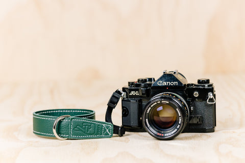 The best gift for photographers - Wrist Strap - Forrest Green - Lucky Camera Straps - genuine leather camera strap personalised handmade in Australia  - 1
