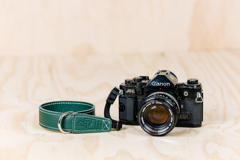 The best gift for photographers - Wrist Strap - Forrest Green - Lucky Camera Straps - genuine leather camera strap personalised handmade in Australia  - 2