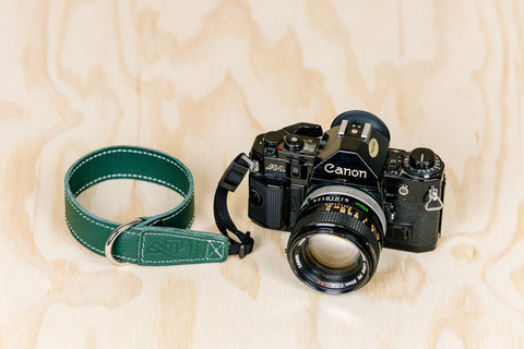 The best gift for photographers - Wrist Strap - Forrest Green - Lucky Camera Straps - genuine leather camera strap personalised handmade in Australia  - 3