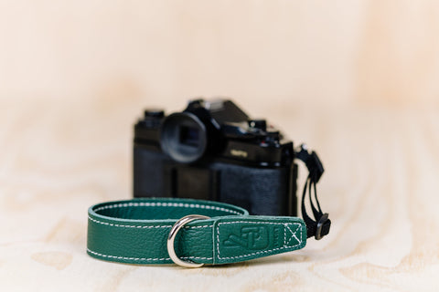 The best gift for photographers - Wrist Strap - Forrest Green - Lucky Camera Straps - genuine leather camera strap personalised handmade in Australia  - 6