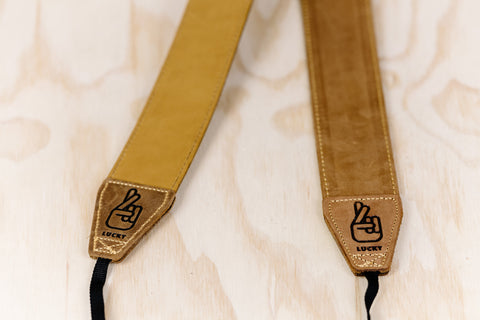 The best gift for photographers - Standard 53 - Classic - Brown/Tan - Lucky Camera Straps - genuine leather camera strap personalised handmade in Australia  - 3