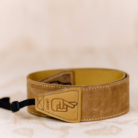 The best gift for photographers - Standard 53 - Classic - Brown/Tan Reverse - Lucky Camera Straps - genuine leather camera strap personalised handmade in Australia  - 1