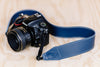 The best gift for photographers - Standard 53 - Classic - Ocean Blue - Lucky Camera Straps - genuine leather camera strap personalised handmade in Australia  - 11