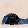 The best gift for photographers - Standard 53 - Classic - Ocean Blue - Lucky Camera Straps - genuine leather camera strap personalised handmade in Australia  - 1