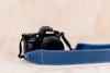 The best gift for photographers - Standard 53 - Classic - Ocean Blue - Lucky Camera Straps - genuine leather camera strap personalised handmade in Australia  - 6