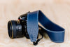 The best gift for photographers - Standard 53 - Classic - Ocean Blue - Lucky Camera Straps - genuine leather camera strap personalised handmade in Australia  - 7