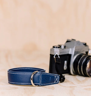 The best gift for photographers - Wrist Strap - Ocean Blue - Lucky Camera Straps - genuine leather camera strap personalised handmade in Australia  - 2