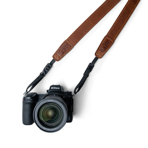 Lucky Straps Slim 30 Camera Strap in Antique Brown Leather