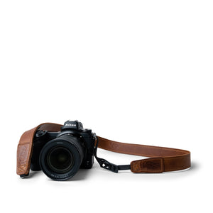 Antique Brown Leather Camera Strap for Mirrorless - Slim 30 by Lucky Straps