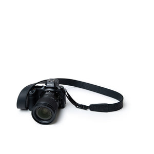 Vintage Black Leather Quick Release Lucky Camera Strap for Travel Photographers