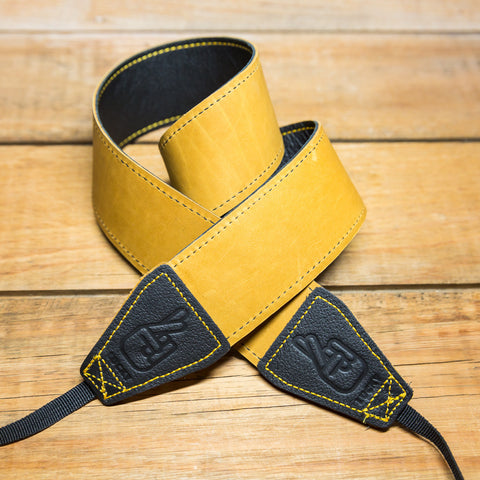 The best gift for photographers - Standard 53 - Classic - Black/Tan Reverse - Lucky Camera Straps - genuine leather camera strap personalised handmade in Australia  - 2