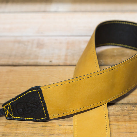 The best gift for photographers - Standard 53 - Contrast - Tan/Black - Lucky Camera Straps - genuine leather camera strap personalised handmade in Australia  - 3