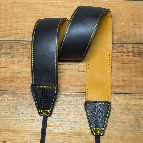 The best gift for photographers - Standard 53 - Contrast - Tan/Black - Lucky Camera Straps - genuine leather camera strap personalised handmade in Australia  - 4