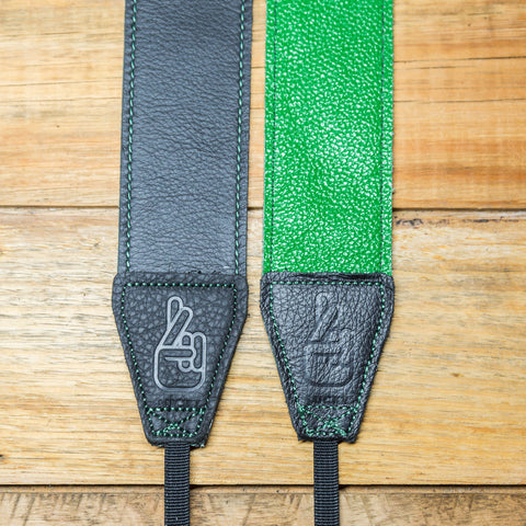 The best gift for photographers - Standard 53 - Contrast - Green/Black - Lucky Camera Straps - genuine leather camera strap personalised handmade in Australia  - 5