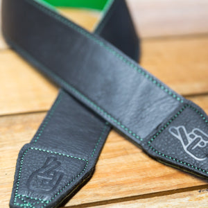 The best gift for photographers - Standard 53 - Contrast - Green/Black - Lucky Camera Straps - genuine leather camera strap personalised handmade in Australia  - 1