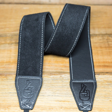 The best gift for photographers - Standard 53 - Grip - Black/White - Lucky Camera Straps - genuine leather camera strap personalised handmade in Australia  - 1